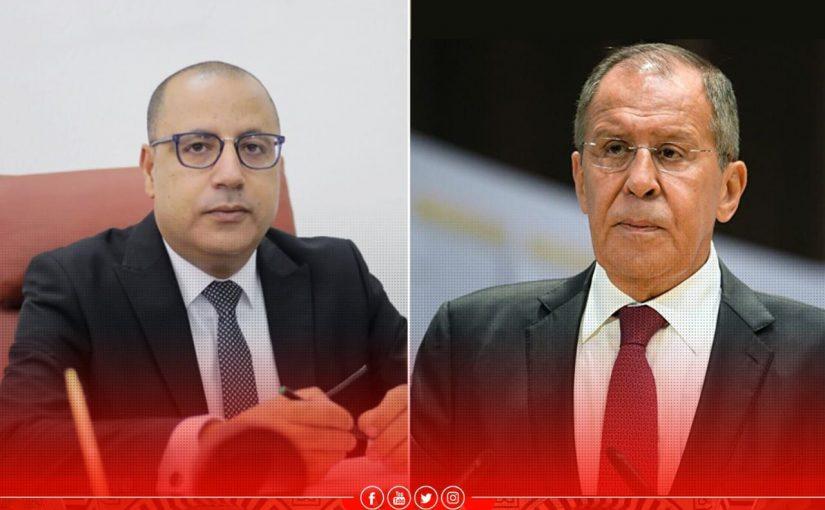 تطوير العلاقات التونسية الروسية موضوع اتصال هاتفي جمع المشيشي بلافروف